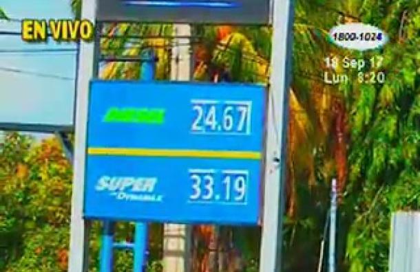 Precios de los combustibles disminuyeron esta semana