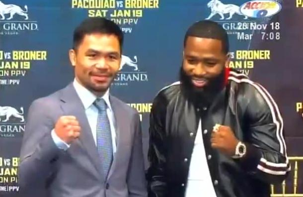 Manny Pacquiao y Adrien Broner se enfrentarán en Las Vegas
