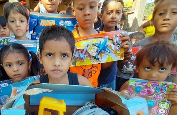 Fundación 10 entregó juguetes a  la comunidad Apascalí en Cosiguina