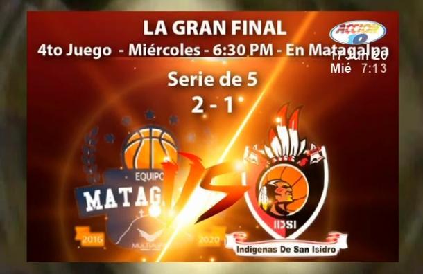 Matagalpa y San Isidro se enfrentarán en la final del baloncesto