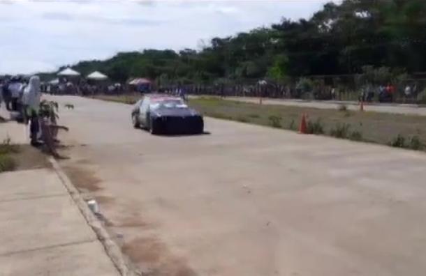 Se realizaron carreras automovilísticas en Managua