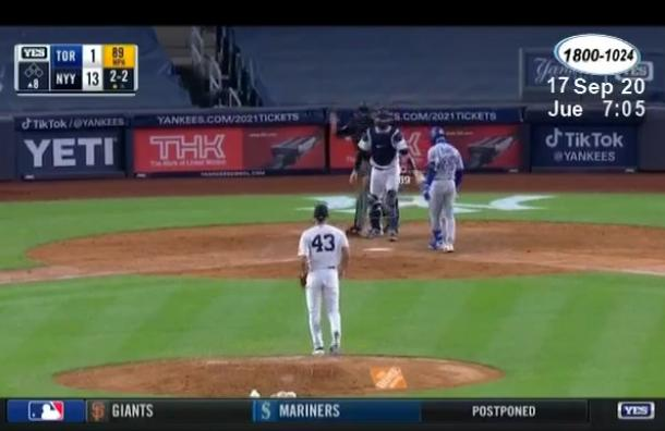 El nicaragüense Jonathan Loáisiga regresó a jugar con los Yankees